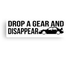 """Drop a gear and disappear"" - Subaru WRX STI Canvas Print"