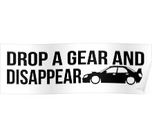"""Drop a gear and disappear"" - Subaru WRX STI Poster"