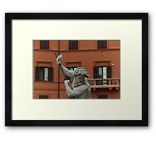 Neptune and the Dove - Fountain of Neptune, Piazza Navona, Rome, Italy Framed Print