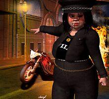 ok ..who torched my bike??? by darkmistress13