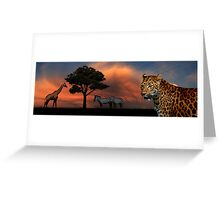 The leopard doesn't sleep tonight Greeting Card