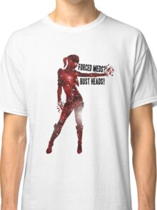 Mass Effect Silhouettes, Jack - Forced Meds? Bust Heads! Classic T-Shirt