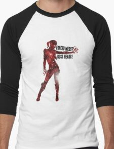 Mass Effect Silhouettes, Jack - Forced Meds? Bust Heads! Men's Baseball ¾ T-Shirt