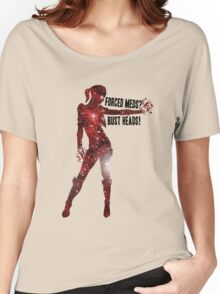 Mass Effect Silhouettes, Jack - Forced Meds? Bust Heads! Women's Relaxed Fit T-Shirt