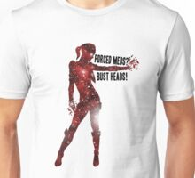 Mass Effect Silhouettes, Jack - Forced Meds? Bust Heads! Unisex T-Shirt