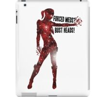 Mass Effect Silhouettes, Jack - Forced Meds? Bust Heads! iPad Case/Skin