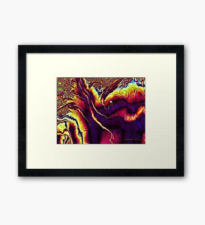 Fractal Fury Framed Print