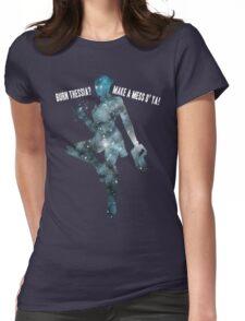 Mass Effect Silhouettes, Liara - Burn Thessia? Make a Mess o' Ya! Womens Fitted T-Shirt
