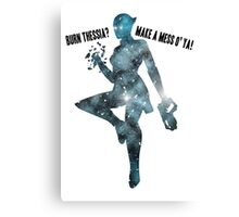 Mass Effect Silhouettes, Liara - Burn Thessia? Make a Mess o' Ya! Canvas Print