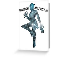 Mass Effect Silhouettes, Liara - Burn Thessia? Make a Mess o' Ya! Greeting Card