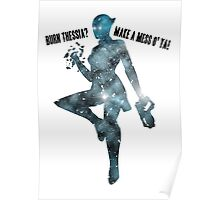 Mass Effect Silhouettes, Liara - Burn Thessia? Make a Mess o' Ya! Poster