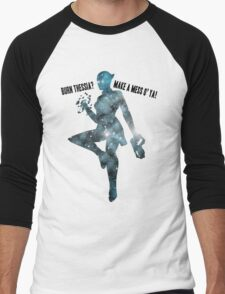 Mass Effect Silhouettes, Liara - Burn Thessia? Make a Mess o' Ya! Men's Baseball ¾ T-Shirt