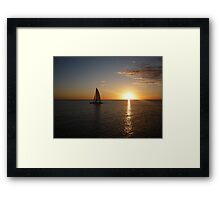 sunset over gulf of mexico Framed Print