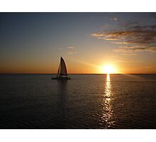 sunset over gulf of mexico Photographic Print