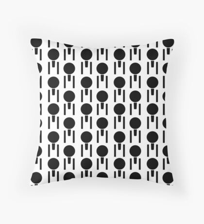 Circle And Three Rectangles Throw Pillow