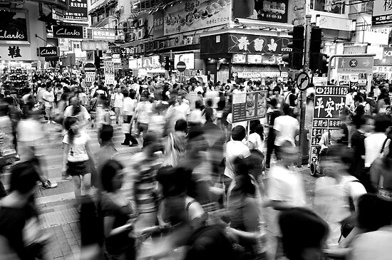 Outside of Mong Kok Station by michswiss
