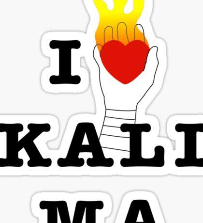 I heart Kali Ma Sticker