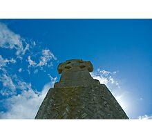 Celtic Cross at Carew Castle Photographic Print