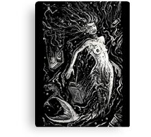 The Mermaids Pollution Torment (for dark background) Canvas Print