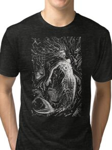 The Mermaids Pollution Torment (for dark background) Tri-blend T-Shirt