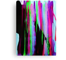 Trippy Color Bleed Canvas Print