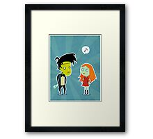 """I said no arms"" Framed Print"
