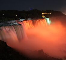 Niagara falls orange by bhavindalal