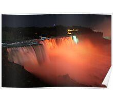 Niagara falls orange Poster
