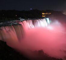 Niagara falls pink by bhavindalal