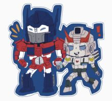 Optimus Prime and Prowl by atomicry