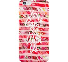 """""""You Can't Sit With Us"""" Watercolor Stripes iPhone Case/Skin"""