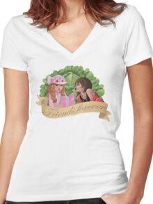 Kamikaze Girls - Friends Forever! Women's Fitted V-Neck T-Shirt