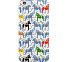 Dala horses pattern - swedish folk design iPhone Case/Skin