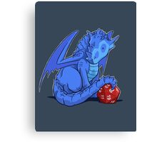 D20 Blue Dragon Canvas Print