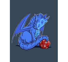 D20 Blue Dragon Photographic Print
