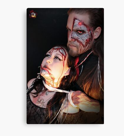 Cyborg Lovers - Alyssa Hedrick and Jason Collier Canvas Print