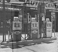 gas pumps by ShellyKay