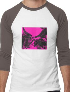 flags blackviolet Men's Baseball ¾ T-Shirt