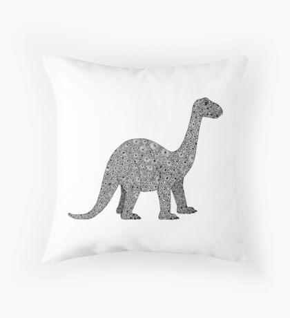 Brontosaurus Dinosaur Throw Pillow