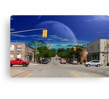 Home Town Blues Canvas Print