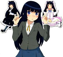 ruri and her alter egos by waj2000