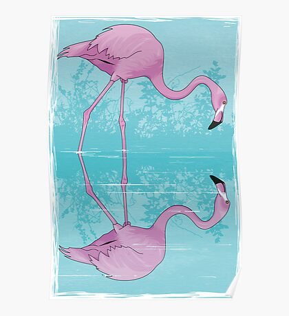 Flamingo Reflection Detection Poster