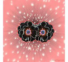 Neon Roses Photographic Print