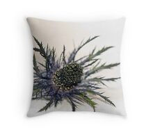 Eryngium-Sea Holly Throw Pillow