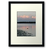 Sunset in Nes aan de amstel Framed Print