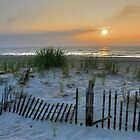 July Sunrise at Fenwick Island by Monte Morton