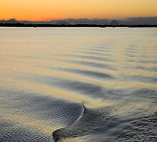 Sun Down on Pumicestone Passage by Barbara Burkhardt