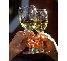 Cheers!  Salud! Photographic Print