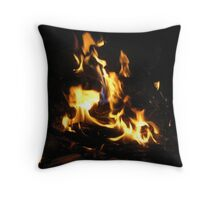Faces of the Fire Throw Pillow