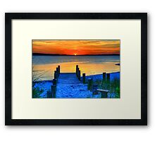 July Sunset at Fenwick Island Framed Print